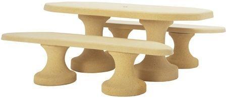 Table Pique Nique Ovale Béton Armé - Tables De Pique-Nique