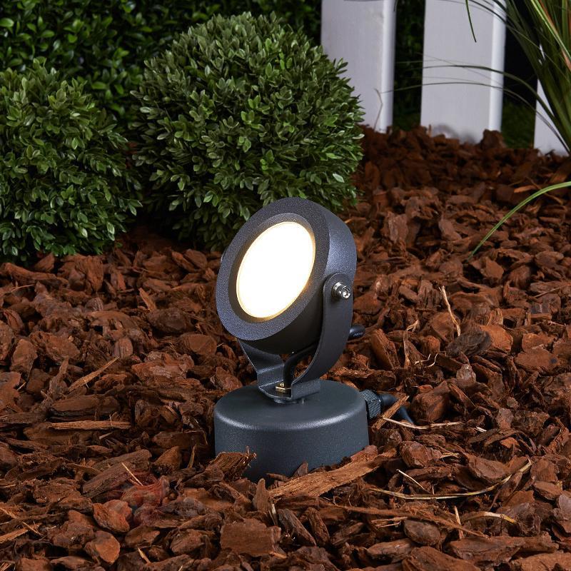Projecteur d'extérieur LED Gavin graphite 1x7 W - Projecteurs d'extérieur LED