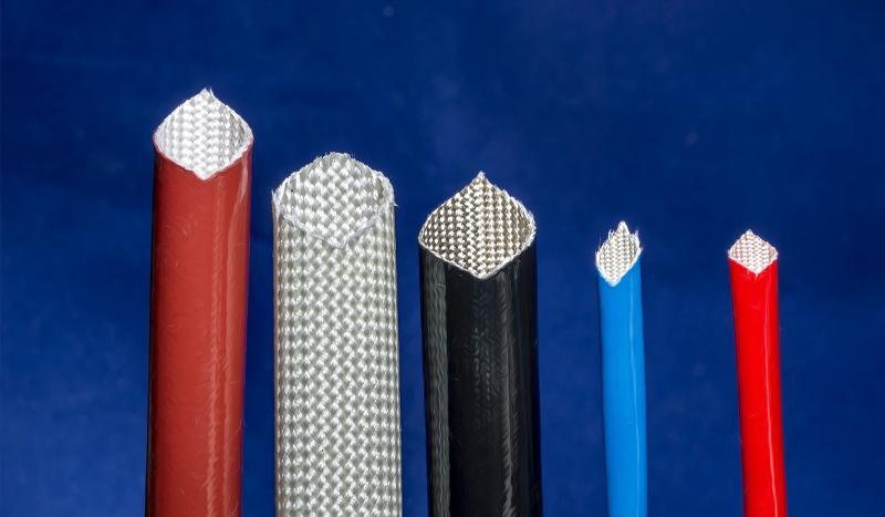 Silikon-Glasgewebeschlauch entspr. IEC 60684-3-400 - null
