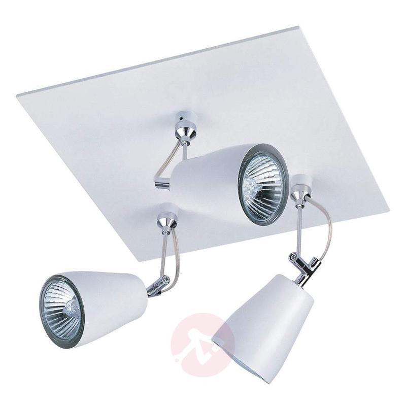 Polar Ceiling Spotlight Square-Shaped Three Bulbs - Ceiling Lights