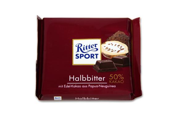 RITTER SPORT Ritter Sport Semi Dark 50% Cacao 100gr - null