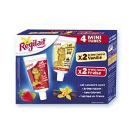 Tubes 60g fraise et vanille, Régilait Pocket - null