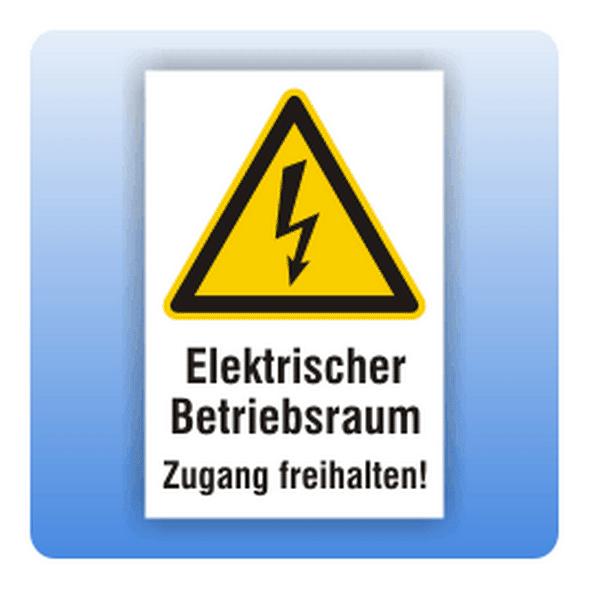 Kombi Warnschild Betriebsraum Zugang freihalten - Größe: 100x150 mm 200x300 mm 100x150 mm