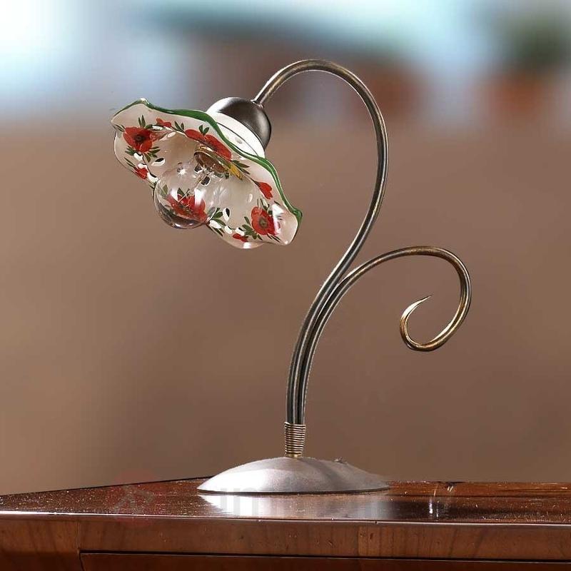 Lampe à poser ROSOLACCI avec abat-jour en céramiqu - Lampes à poser rustiques