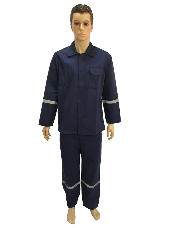work suit with reflective woven tape on arm ,shoulder,waist and leg