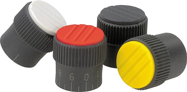 Bouton strié - Poignées et boutons