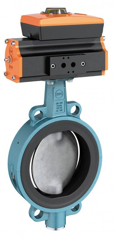 Válvula de cierre y control tipo Z 611-A - Válvula de cierre y control tipo concuerpo partido en diseño de brida intermedia