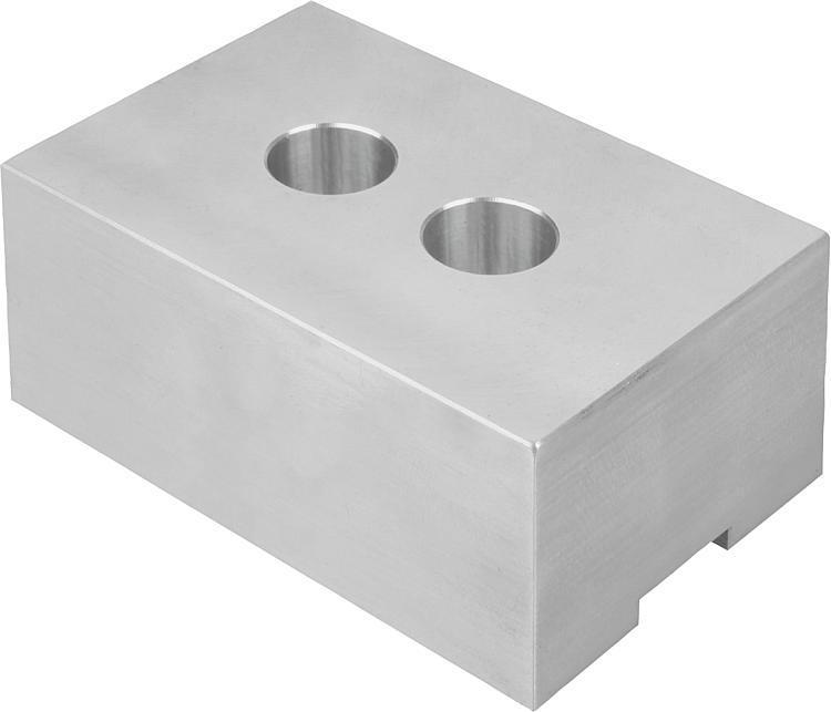 Mors brut en aluminium - Etau auto-centrant