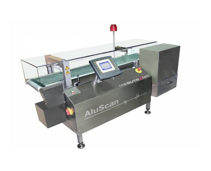 High performance sensor with conveyor for inspection of - ALUSCAN