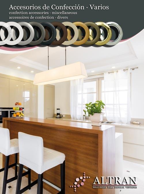 Accesorios Cortinas - cintas para confeccionar cortinas, ollaos, ganchos, garfios, soportes rápidos...