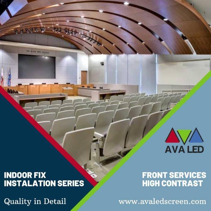 Leddisplay for konferansesaler - AVA LED 8K - 4K - Giant LED-skjerm i full HD for innendørs