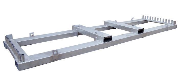 Matériels de rangement - Râtelier de rangement pour clôtures mobiles de chantier - null