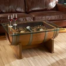 Vertical Cut Coffee Table With Glass Top -