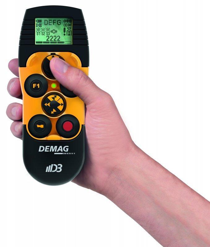 Telemando de radio Mini Joystick DRC MJ - Ergonómico. Eficiente. Intuitivo. Telemando de radio Demag DRC MJ