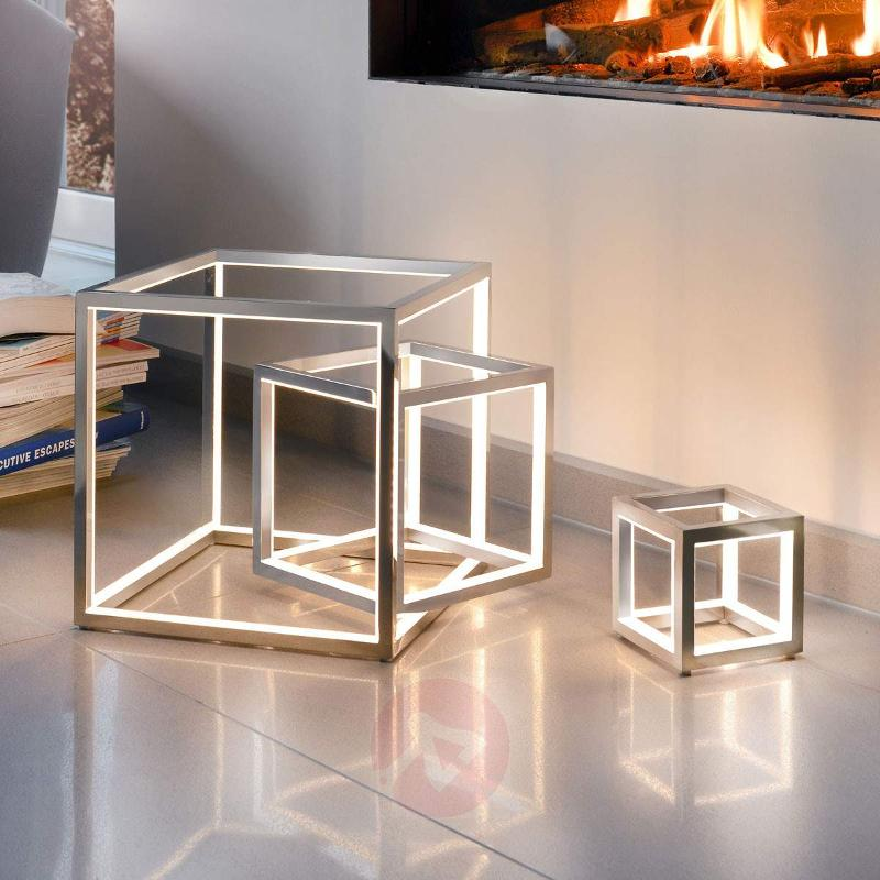 Delux - LED table lamp in cube shape - Table Lamps