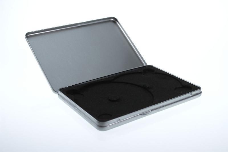 Metalldose im Standard DVD Format mit Samteinlage für... - Metalldosen