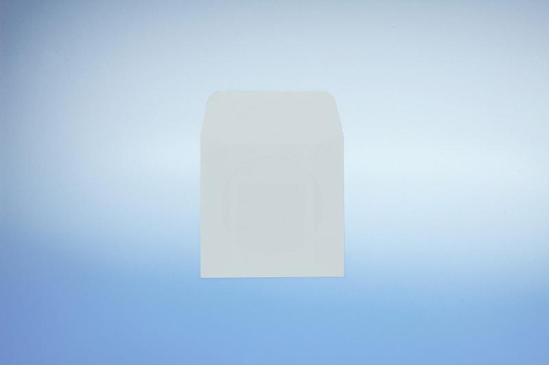 Papierfenstertasche für 8cm CD - mit selbstklebender Klappe - Papierstecktaschen