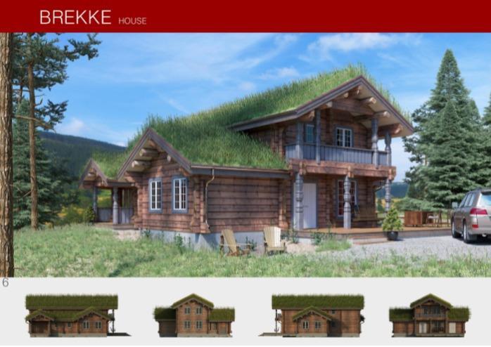 Prefabricated wooden house BREKKE  -