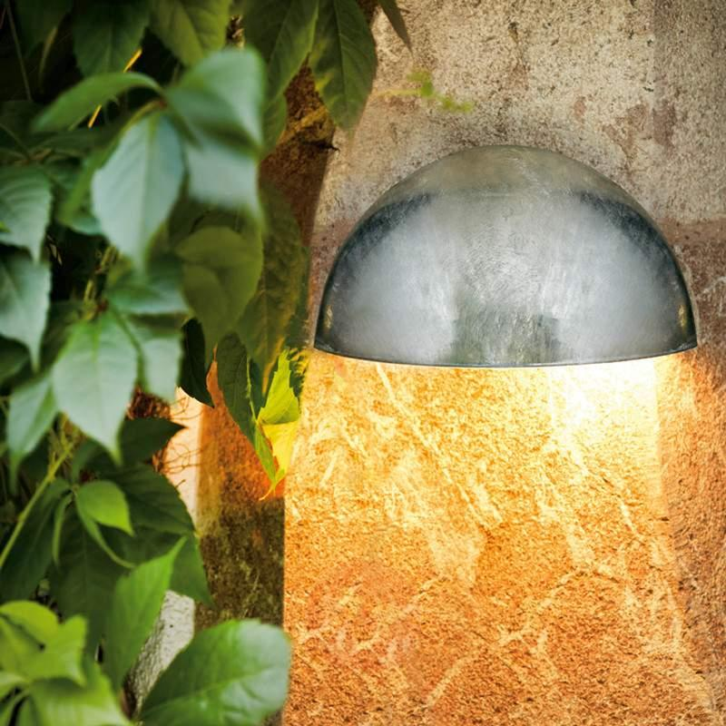 Galvanised Lepus wall light, IP23 - Wall Lights
