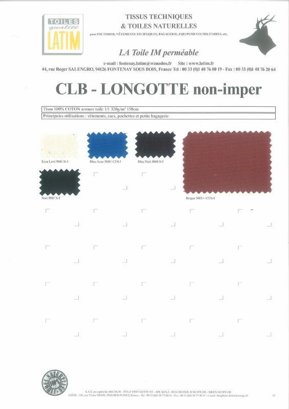 CLB - LONGOTTE Non-Imper - Toiles naturelles