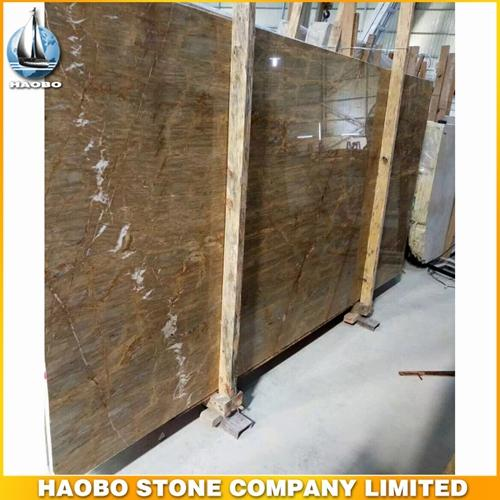 Barcelona Gold Marble Polish Slab Available 2CM And 3CM