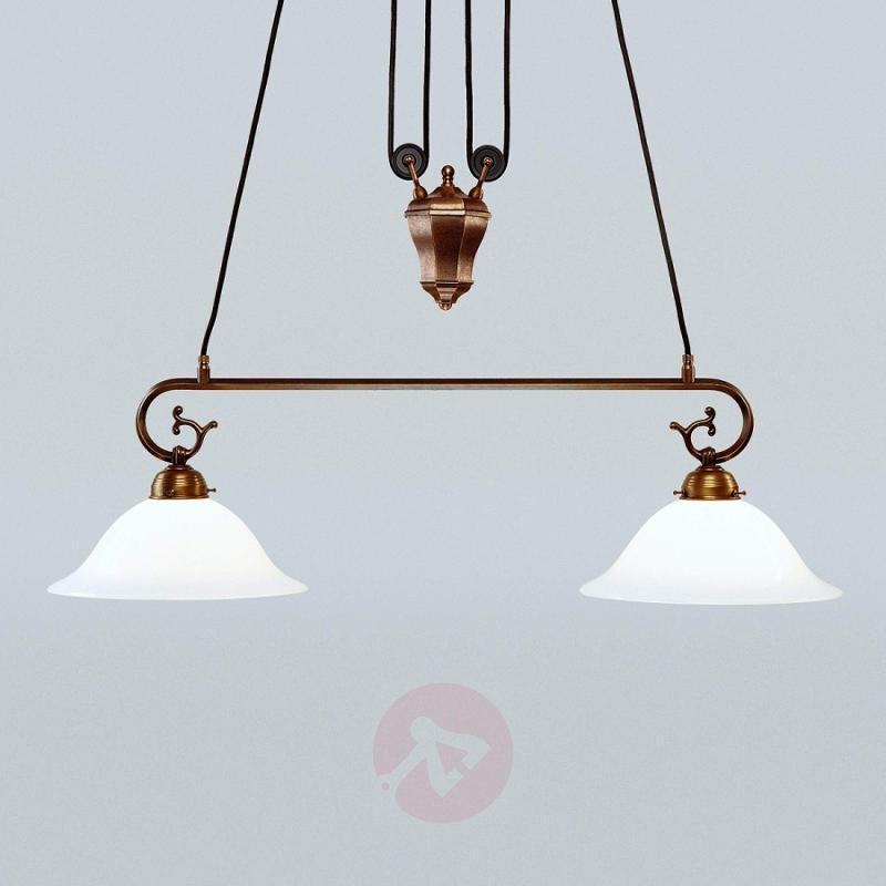 Kaiser hanging light, rise and fall mechanism - design-hotel-lighting