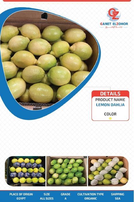 """Limón orgánico - """"Dhalia y cebada"""""""