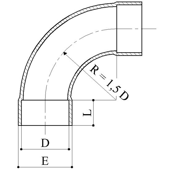 Curve 90° - Raccordi PVC