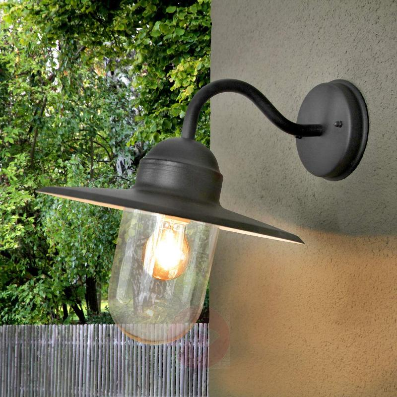 Black country house style outdoor wall light Filip - Outdoor Wall Lights