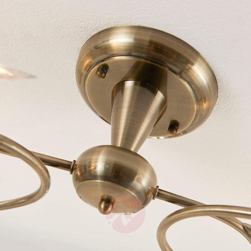 Floral ceiling light Aurelia in antique brass - indoor-lighting