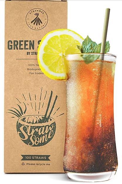 Green Straws – Bio Einweg-Strohhalme aus Lepironia-Gras - Der Green Straw für Ihr Business