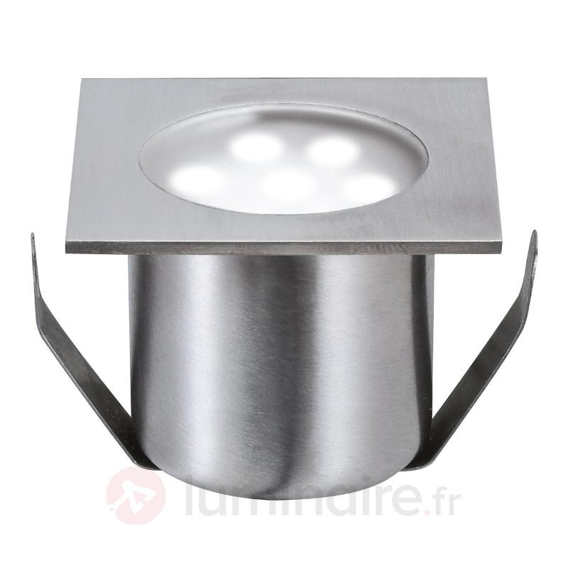 Spot encastré sol LED ProfiMini set d'exten. carré - Luminaires LED encastrés au sol