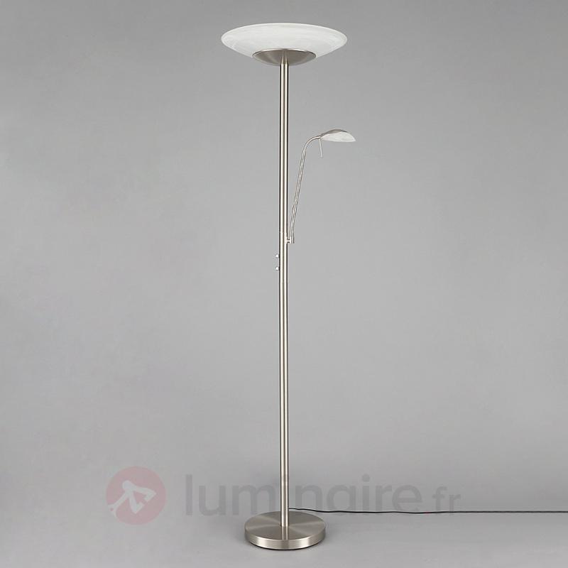 Ragna - lampadaire de bureau LED liseuse intégrée - Lampadaires LED à éclairage indirect