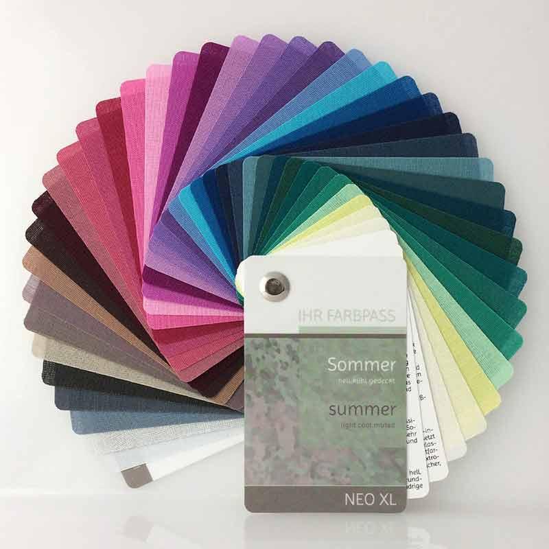 Farbpass aus Stoff Neo XL - Farbtyp Sommer