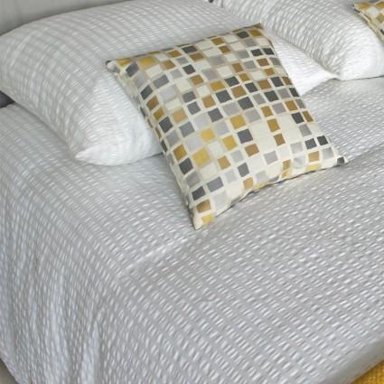 Linge de lit : draps, taies, alèses - Linge de Lit Sorente blanc sans repassage