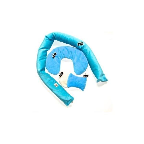 Les coussins Bio - Tour de bébé-bleu-L - null
