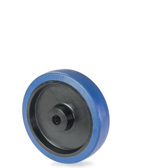 Ruota in gomma elastica con nucleo in nylon 6 -