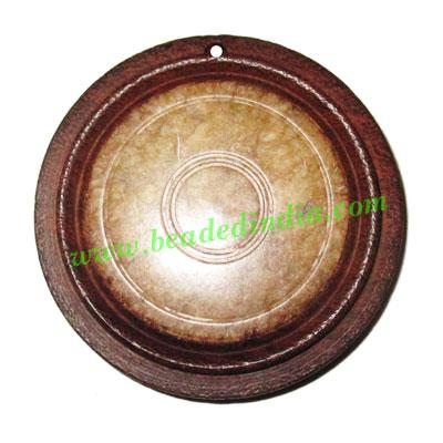Handmade wooden fancy pendants, size : 44x8mm - Handmade wooden fancy pendants, size : 44x8mm
