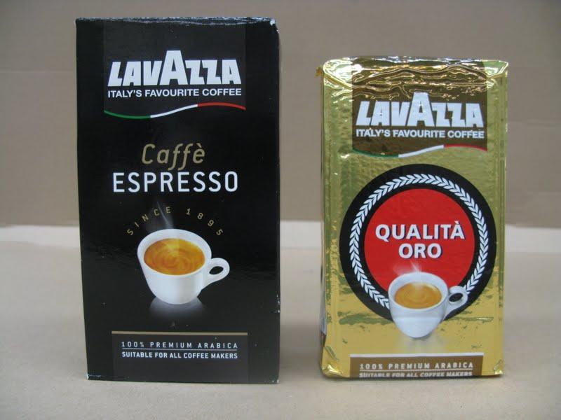 LAVAZZA CAFFE ESPRESSO and ORO 250gr ground Coffee - null