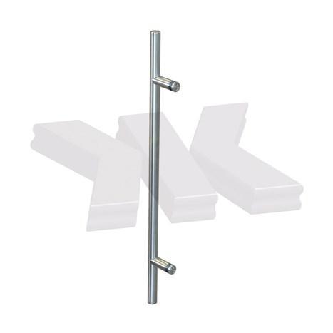Straight single-sided pull handle, Ø 20 mm, stainless steel AISI 304 - Straight single sided pull handle stainless steel