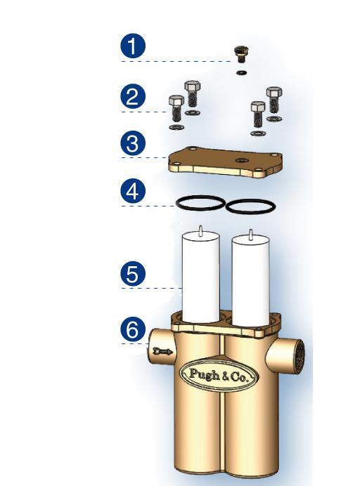 Pugh Micromet 150B - appareil anticalcaire - 250 ou 500 litres par jour (2 cartouches)