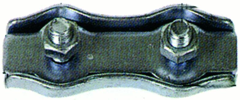 Cosses et serre-câbles - Serre-câble duplex galvanisé ou inox
