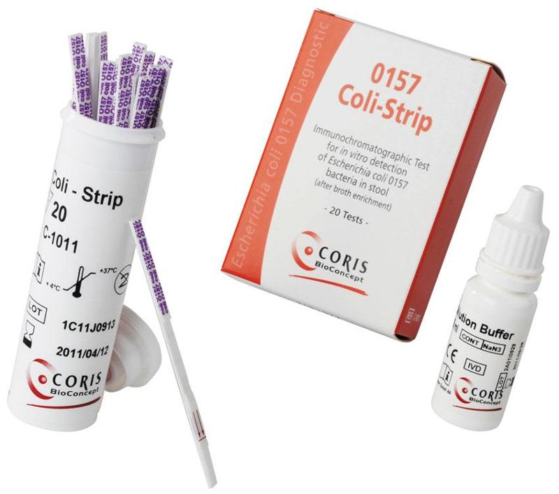 E. coli : Rapid diagnostic for detection - Dipstick (Strip) - null