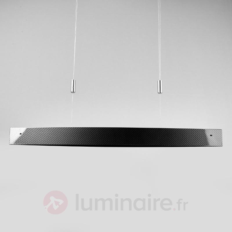 Aspect carbone - suspension LED hauteur réglable - Suspensions LED