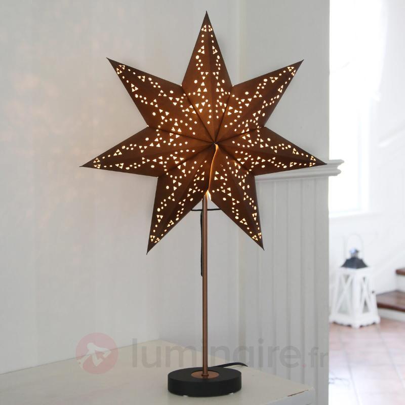 Lampe décorative Agora noire set combi - Etoiles de Noël