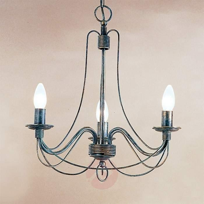 Clara Hanging Light Country House Style Three-Bulb - Pendant Lighting