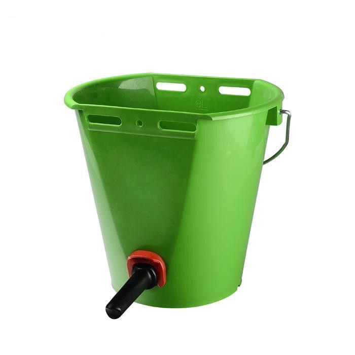 8L Plastic Calf /cattle/horse Feeding teat Bucket - animal feeding bucket for cow with teat milk bucket
