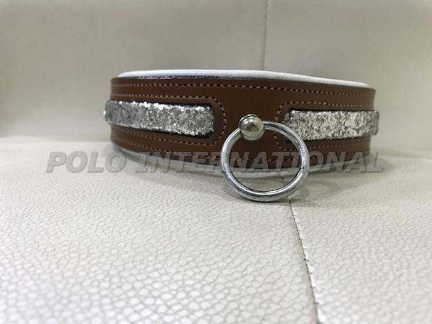 Glitter leather style dog collar - Comfort Dog collar