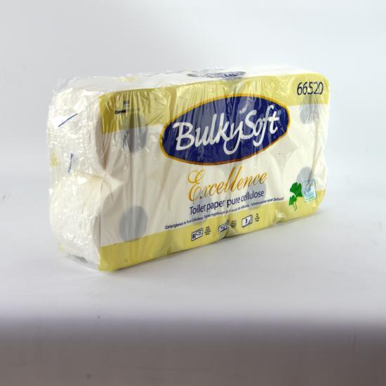 Papier hygiénique luxe pure ouate blanche molletonné 3... - Essuyage