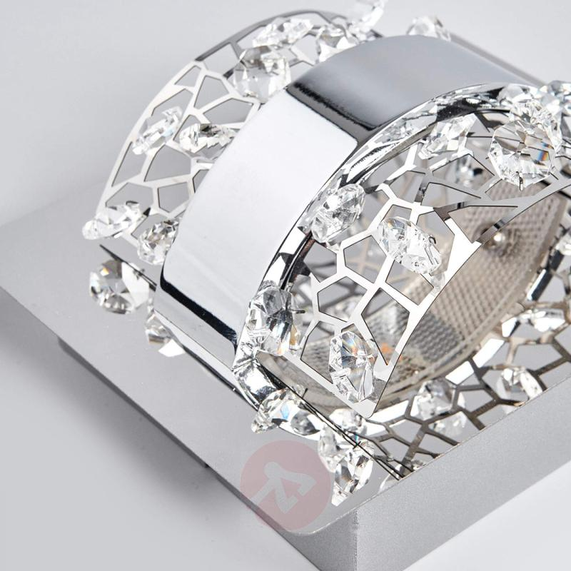 Sparkling Kirika LED wall light with crystals - indoor-lighting